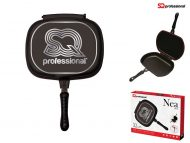 Double Sided Frying Pan 33cm Grill Pan Red