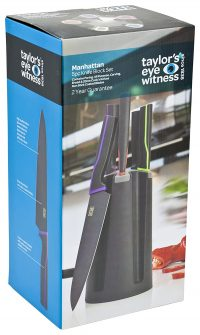 TAYLORS EYE WITNESS 5-Piece Non-Stick Coated Manhattan Knife Block Set with Knives