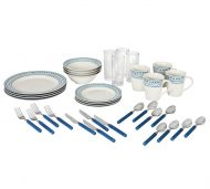 Home Dotty 36 Piece Dinner Set - Blue