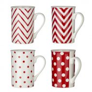 4 Piece Chevron Mug Set
