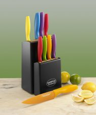 Tomodachi Knife Block Set (10 Pieces), Assorted Colours