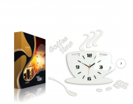 Coffee Time 3D Wall Clock