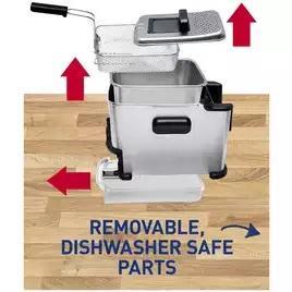 Tefal FR701640 Oleoclean Compact Deep Fryer - S/Steel