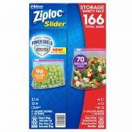 Ziploc Slider Storage Bags 166 Count Variety Pack