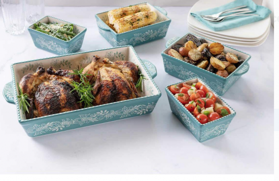 Baum Oven to Table 5-piece Paisley Baker Set