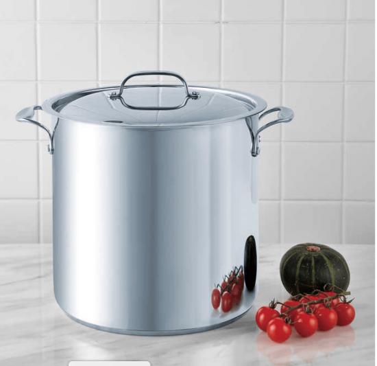 Bergner 15.1 L (16 qt.) Stainless Steel Stock Pot