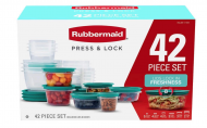 Rubbermaid 42-Piece Set Press & Lock Easy Food Storage Containers