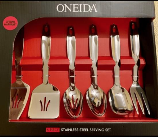 ONEIDA 6 PIECE STAINLESS STEEL SERVING SET