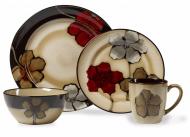 Pfaltzgraff Painted Poppies 16-Piece Stoneware Dinnerware Set
